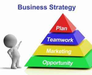 Business Strategy Pyramid Shows Teamwork Marketing And Plan by Stuart Miles