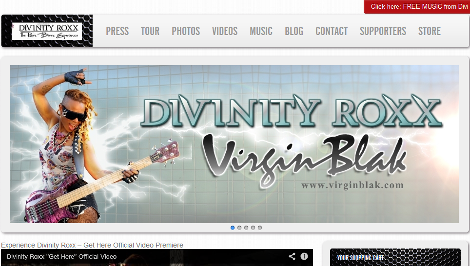 Divinity Roxx website by Divinity Roxx Graphics by Sissy