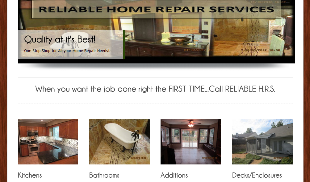 Relaible Home Reair Services Website by UNI Marketing Media Solutions http://uni-likesolutions.com