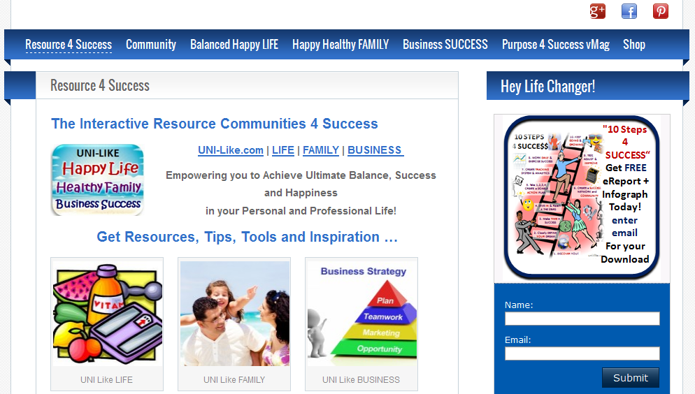 UNI Like Interactive Resource Communities 4 Success website created by UNI Marketing Media Solutions http://uni-likesolutions.com